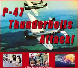 Color photos of P-47 Thunderbolt fighter/bombers and crews of the 362nnd and 365th Fighter groups in action during World War 2.